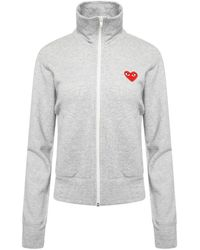 COMME DES GARÇONS PLAY T251 Red Heart Track Jacket Grey