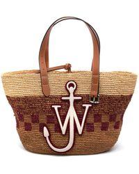 JW Anderson Basket Belt Tote Bag Bordeaux - Multicolour