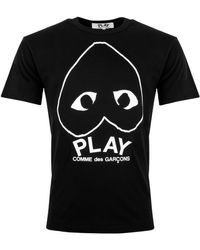 COMME DES GARÇONS PLAY Inverted Outline Heart T-shirt - Black