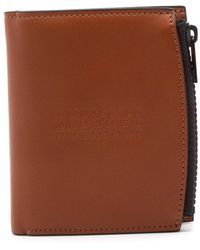 Maison Margiela - Four Stitch Zipped Leather Wallet Tan - Lyst