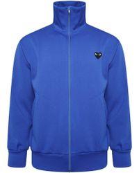 COMME DES GARÇONS PLAY T255 Black Heart Track Jacket Blue