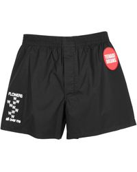 Raf Simons Boxer Shorts With Patch Detail - Black