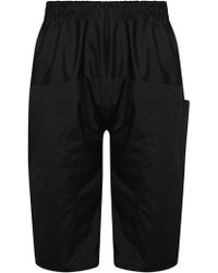 Raf Simons - Cropped Drop Crotch Trousers Black - Lyst