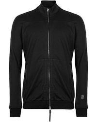 Boris Bidjan Saberi 11 Logo Embroidered Full Zip Sweatshirt - Black