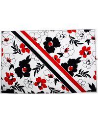 Thom Browne Floral Beach Towel White - Multicolour