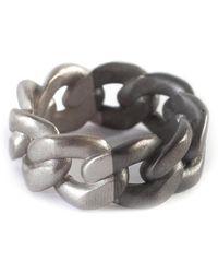 Maison Margiela Two-tone Curb-chain Sterling-silver Ring - Metallic