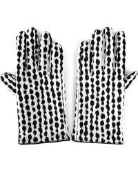 Raf Simons Animal Print Gloves White