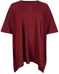 Rick Owens Drkshdw Minerva T-shirt Bruise - Red