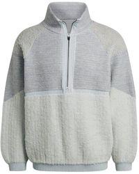 Y-3 Winter Knit Half-zip Sweater - Gray