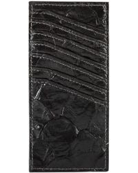 Rick Owens Vertical Pirarucu Leather Card Holder Black