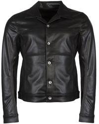 Rick Owens Drkshdw Faux Leather Worker Jacket - Black