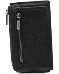 Yohji Yamamoto Leather Mini Card Wallet - Black