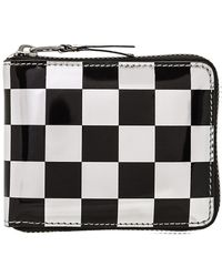 Comme des Garçons - Sa7100ga Optical Group Check Wallet Black - Lyst