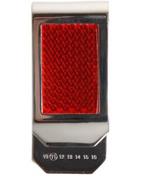 Maison Margiela Reflective Money Clip - Red