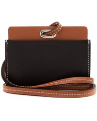 JW Anderson Leather Cardholder With Strap - Black