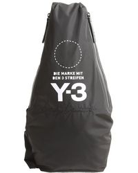 Y-3 Large Fabric Bag in Natural for Men - Lyst 72c4f772ce9bb