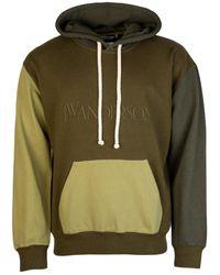 JW Anderson Colour Block Hoodie Khaki - Green