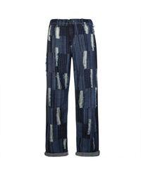 Charles Jeffrey LOVERBOY Awol Distressed Denim Jeans - Blue