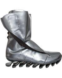 Rick Owens X Adidas Spring Blade High Boot Silver - Metallic