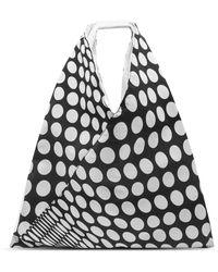 MM6 by Maison Martin Margiela Polka Dot Japanese Tote Bag - Black