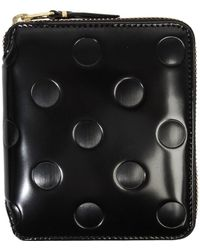Comme des Garçons - Sa2100ne Embossed Dot Leather Wallet Black - Lyst