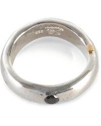 Rosa Maria Judd Polished Twisted Ring W/ Black Dimond - Metallic