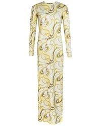 Raf Simons - All-over Print Long Sleeve Jersey Dress - Lyst
