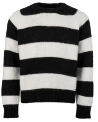 DSquared² Striped Alpaca Jumper Black/white