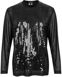 Junya Watanabe Black Sequin Sheer Top