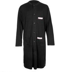 Raf Simons Long Jersey Lab Coat - Black