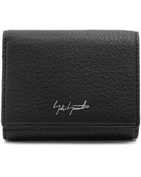 Yohji Yamamoto Tri-fold Leather Wallet - Black