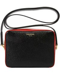 Thom Browne Mini Business Cross Body Bag Black