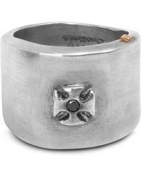 Rosa Maria Black Diamond Protection Ring Silver - Multicolour