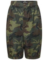 Junya Watanabe Camouflage Crop Trousers - Green