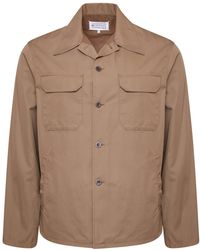 Maison Margiela - Twill Military Over Shirt Sand Beige - Lyst