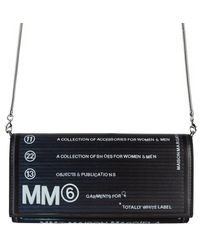 MM6 by Maison Martin Margiela Collection Number Printed Wallet On A Chain - Black