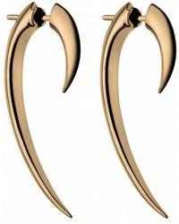Shaun Leane - Silver Hook Earrings Rose Gold - Lyst