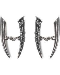Shaun Leane Oxidised Silver Horn Cufflinks - Metallic
