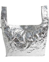 Junya Watanabe Foil Effect Tote Bag - Metallic