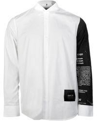 OAMC Anagram Graphic Sleeve Print Shirt - White