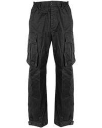 DSquared² Wide-leg Twill Cargo Trousers - Black
