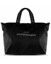 Maison Margiela 11 Embroidered Logo Holdall - Black