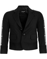 DSquared² Cropped Single-breasted Blazer - Black