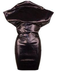 Rick Owens Phlegethon Sarah Mini Dress - Black