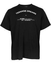 Raf Simons Big Fit Teenage Dreams Tour T-shirt - Black