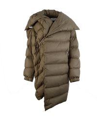 Marques'Almeida Asymmetric Oversized Down Puffa Jacket S - Green