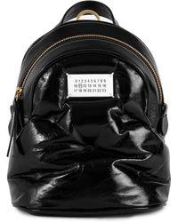 Maison Margiela Glam Slam Patent Leather Mini Backpack - Black