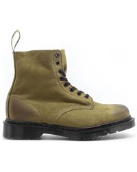 Dr. Martens 1460 Pascal Olive Titan Boots - Green