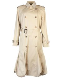 JW Anderson Bubble Hem Trench Coat - Natural