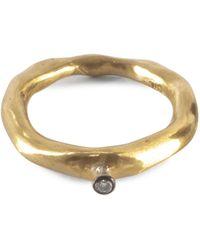 Rosa Maria Seiko Ring With Small Cognac Diamond - Metallic
